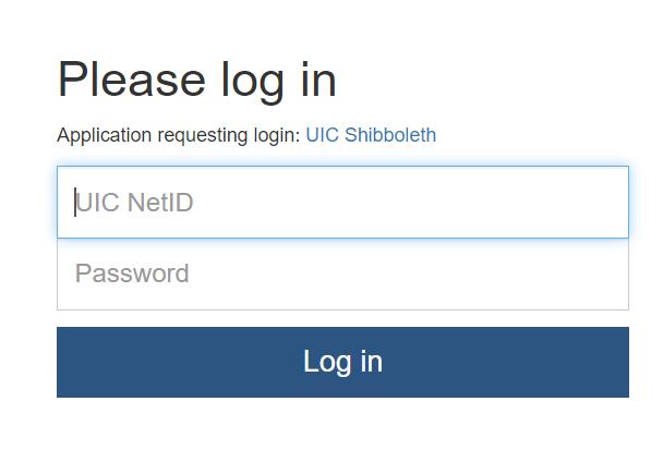 example U I C login page