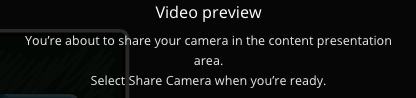 Video preview screen text