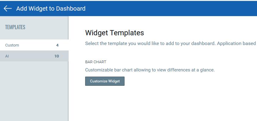 widget templates screen