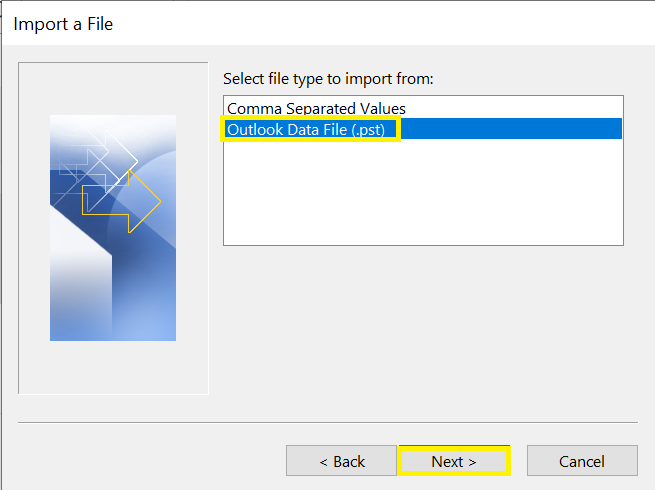 where to find file to import