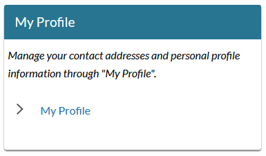 my profile start screen