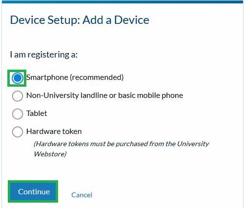 Device Setup:  Add a Device