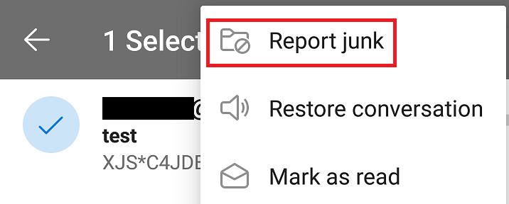 Showing the Report Junk button