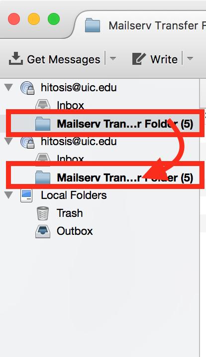 illustrating how to transfer folder