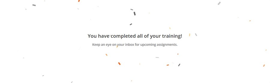 competed training message