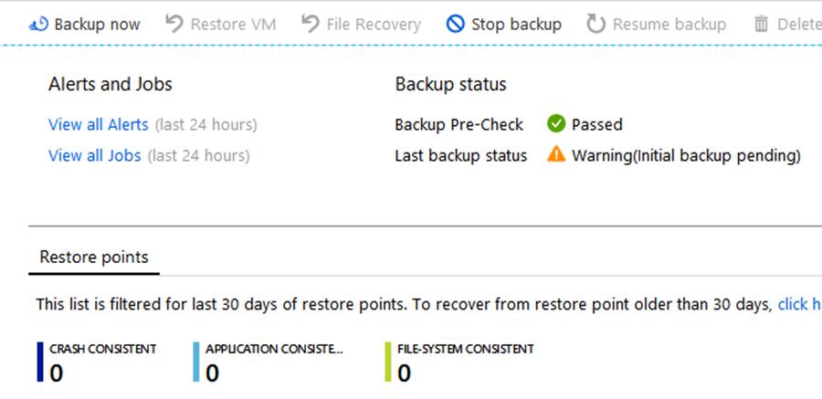 example backup window