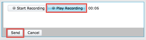 Play recording button