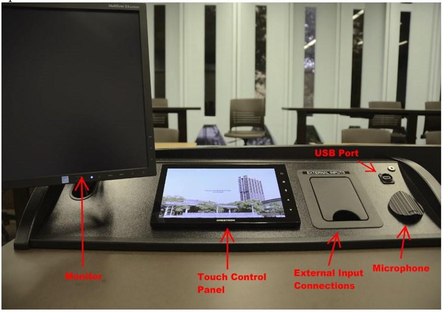 AV system in classroom