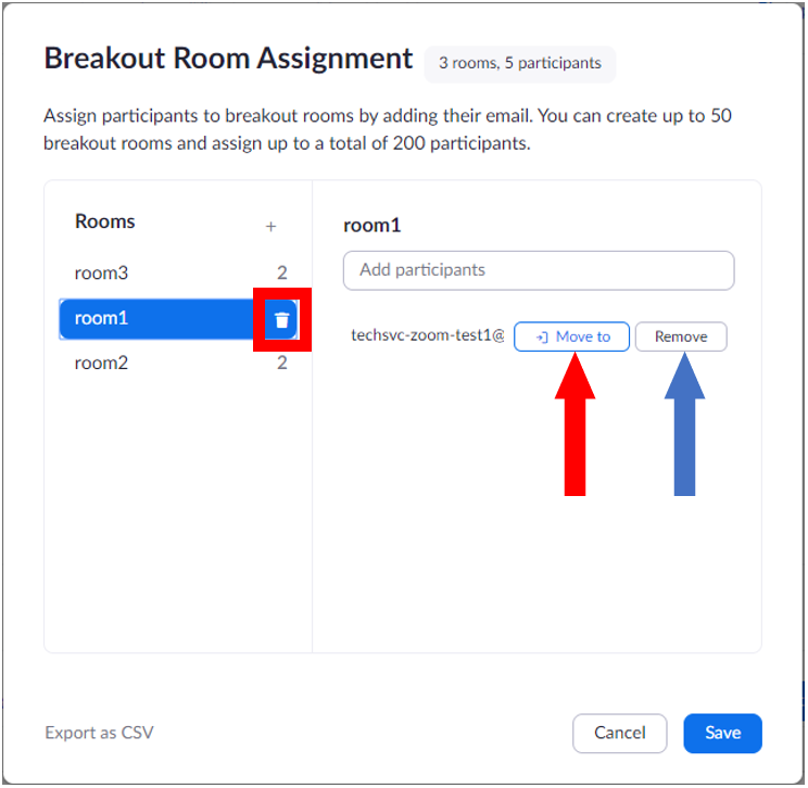Breakout room pre-assignment using csv