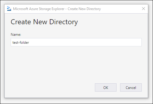 example create new directory screen