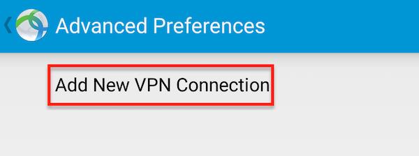 Click Add new VPN
