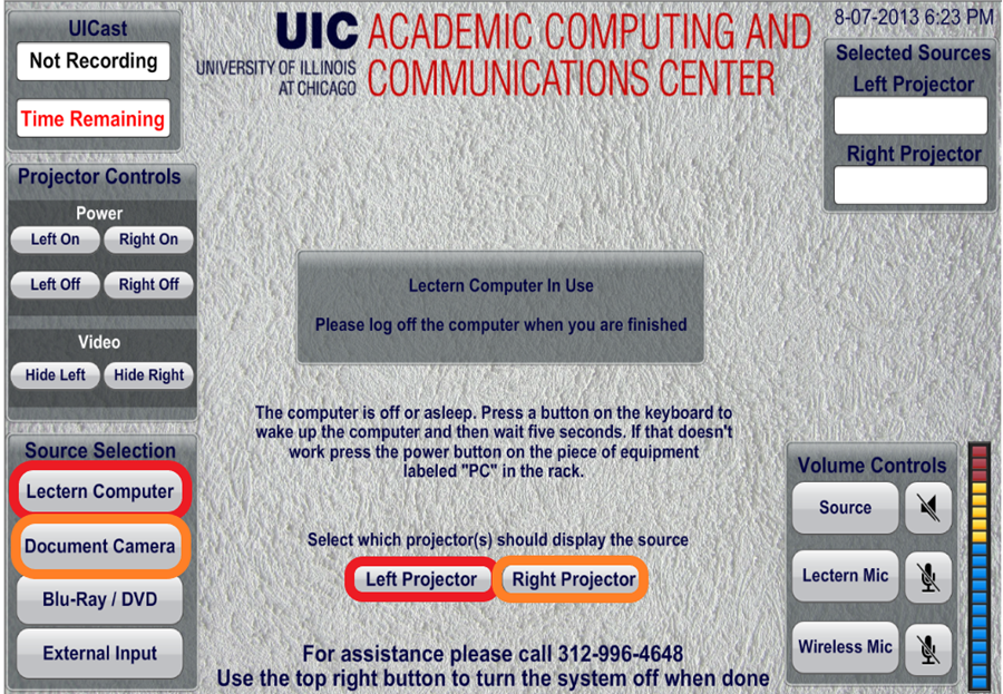 screen demonstrating the example scenario below