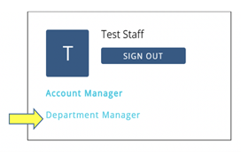 department manager role identified