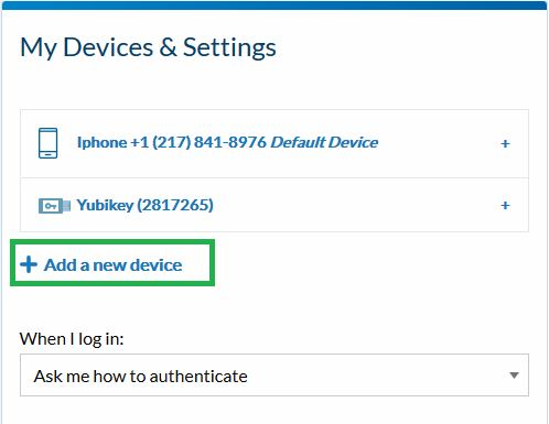 My Devices & Settings