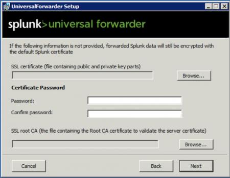 splunk password screen