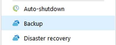where to find backup option