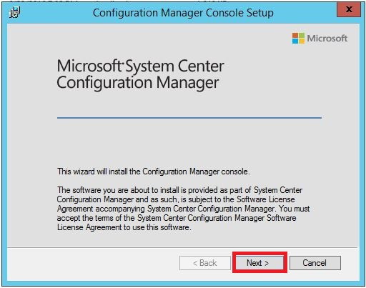 configuration manager start screen