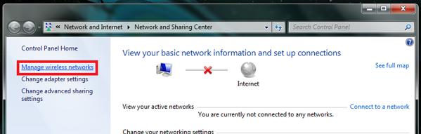 find manage wireless networks details