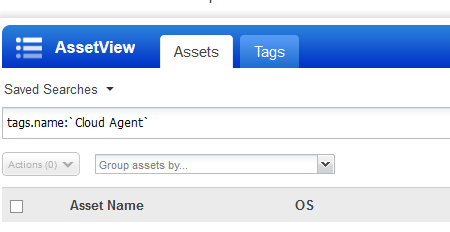 example assets screen