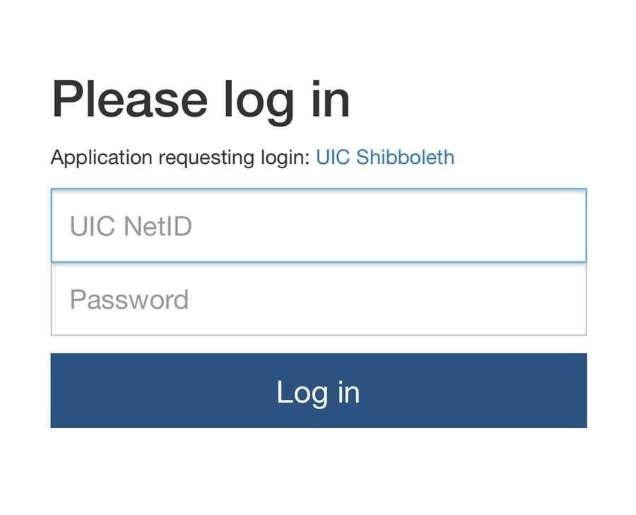Shibboleth log in