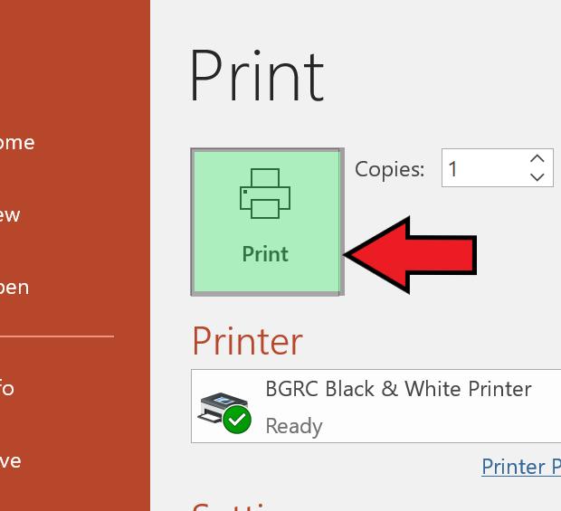 find print button