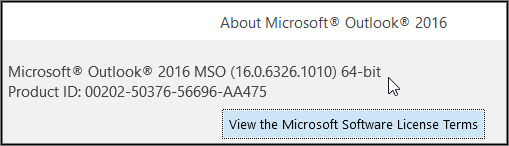 where to view the outlook version