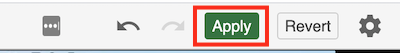 navigation view of the apply button